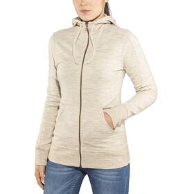 Icebreaker Dia LS Zip Hood Jacket Women Fawn Heather